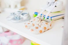 Baby Girl Shoes on Display - because you gotta show off those darling, teeny-tiny shoes!