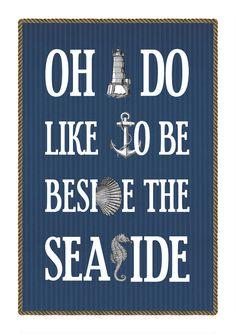 Vintage Nautical Seaside Print @folksy.com