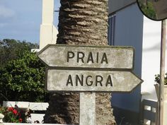 Signage from Terceira, Azores