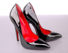 CQ COUTURE EXTREME HIGH HEELS PUMPS SCHUHE DECOLTE PATENT LEATHER BLACK NERO 45   eBay
