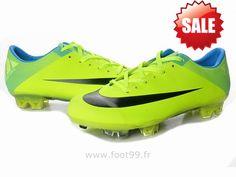timeless design f11b2 3581f Chaussures de foot nike Mercurial Vapor Superfly III FG Fluorescent Vert  Bleu Noir Crampon De Foot Nike Mercurial Pas Cher