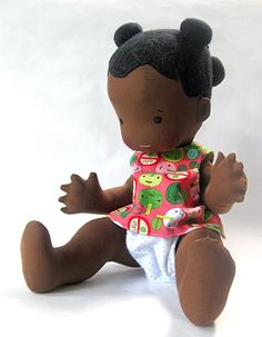 "Naomi- 18 ""Vintage Inspired Fabric Baby Doll  -   1 of 8"