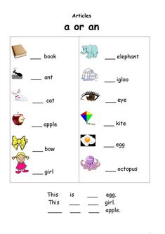 English Worksheets For Kids Grammar 001 A And An Worksheets Free Printable Kids 001 See The Category English Worksheets For Kids Grammar 001 Worksheets For Class 1, English Worksheets For Kindergarten, English Grammar Worksheets, English Activities, Alphabet Worksheets, Kindergarten Worksheets, Printable Worksheets, A An Worksheet, Printable Coloring