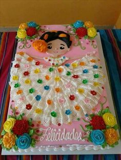 Mexican doll cake