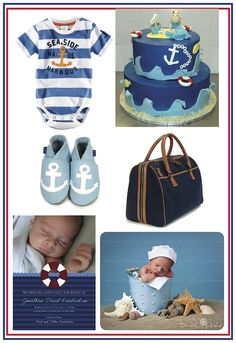 Ahoy! Set sail with these great nautical ideas for baby! Shop the Danzo Baby Soho diaper bag at http://danzobaby.com