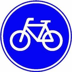 An overview of the mandatory signs of Netherlands. Learn all traffic signs with the free practice questions. Holland, Dutch Bicycle, Mass Culture, Vw Bus, Buick Logo, Lululemon Logo, Cycling, Blue And White, Bicycle Crafts