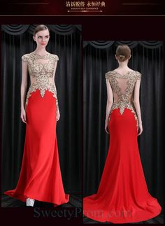 Noble red satin see-through handmade A-line long prom dress Prom Dresses 2016, Plus Size Prom Dresses, Cheap Prom Dresses, Sexy Dresses, Sexy Evening Dress, Chiffon Evening Dresses, Formal Evening Dresses, Evening Gowns, Affordable Evening Dresses
