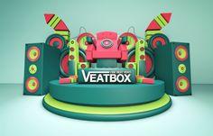 """CGV"" Cinema 3D Artwork Project & MotionGraphic by won jehee, via Behance - 3D Typography Design Modelling"