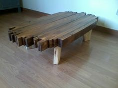 Amazing Design Pallet Coffee Table  #livingroom #pallettable #recyclingwoodpallets I liked the result of the sofa table I did before, so to make the set I made a coffee table to match. Give me your opinions.     ...