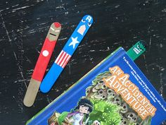 make your own avengers bookmarks!