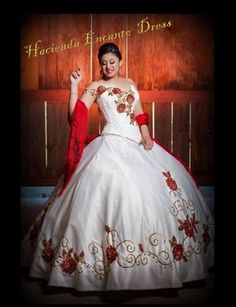 Quinceanera red mexican these dress dresses party!