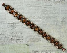 Linda's Crafty Inspirations: Christmas Bracelet #1 - Esther Silky Bracelet Variation