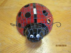 Mosaic Lady Bug Yard and Patio Art Piece One of a Kind Original Mixed Media Mosaic by TinkersAttic on Etsy