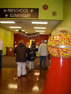 We need this gum ball machine! Incentive for cooperation during kids church? I say YES!