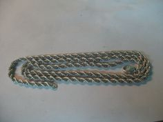S 38g 925 Sterling SILVER 28''  PLAID  CHAIN 70cm length by spyrinex06 on Etsy