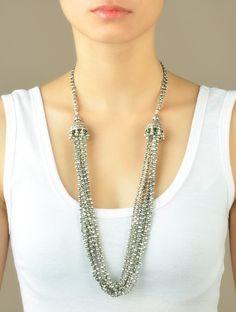 Antique Silver Multi-String Jhumki Necklace