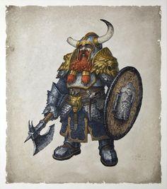Bruenor Battlehammer - Galeria de Arte - Player's Handbook D&D 5a Edição…