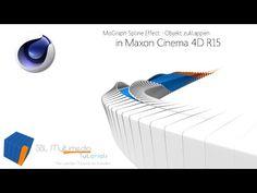 Cinema 4D R15 Tutorial: MoGraph Spline Effect Objekt zuklappen [deutsch] - SBL Multimedia - YouTube