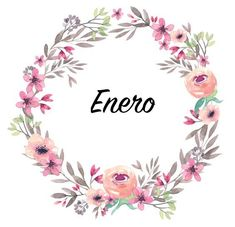 #corona #flores #flowers #diseño #lettering #label #enero #january #winter #purple #morado #pink #rosa