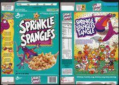 General Mills - Sprinkle Spangles cereal box oldskoolin-it Discontinued Food, General Mills Cereal, Cereal Killer, Barbie Food, Old School Toys, Cereal Bars, Retro Recipes, Food Labels, Miniture Things