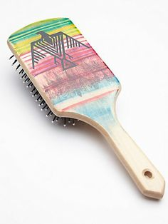 Free People Hand Painted Wooden Brush...pretty! I need a nice, new hair brush...