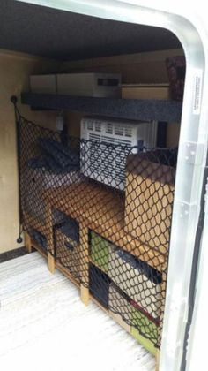 Awesome Ideas For Enclosed Cargo Trailer Camper Conversion – Vanchitecture Awesome Ideas For Enclosed Cargo Trailer Camper Conversion – Vanchitecture<br> Awesome Ideas For Enclosed Cargo Trailer Camper Conversion Trailer Organization, Trailer Storage, Camper Storage, Utility Trailer, Diy Camp Trailer, Trailer Shelving, Hiker Trailer, Work Trailer, Van Storage