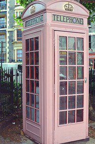 old phone booth.
