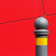 https://flic.kr/p/JpSsee | Geometricolors | Composition with red, yellow and grey colors. Street detail. Via Emilia Levante. Bologna 2016