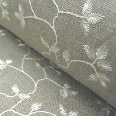An Embroidered April Design For Curtains & Blinds.