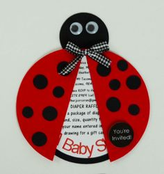 Ladybug favor tags birthday party favor tags baby shower favor hop on over ladybug baby shower invites filmwisefo Image collections