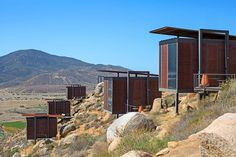 Encuentro Guadalupe accommodations in Baja California, Mexico, were conceptualized by Encuentro Antiresorts—a group that aims to create resortlike experiences that reflect local communities. Comprising 20 stylish steel-and-glass eco-lofts perched atop the craggy terrain in the Valle de Guadalupe wine region, the hotel has an on-site winery and several kitchens that specialize in the native cuisine. From $240/night; encuentroguadalupe.com