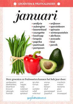 Seizoensgroenten januari | Gezondheidsnet