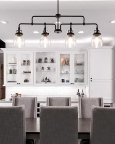 FREE SHIPPING. Purchase the Industrial Belton Linear Chandelier in Bronze for your kitchen lighting at lightingconnection.com. Sea Gull Lighting 6614504-782