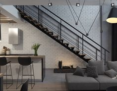Loft in Moscow on Behance Home Room Design, House, Pretty House, Interior Design Kitchen, House Rooms, House Interior, Home Deco, Interior Design, Modern Apartment