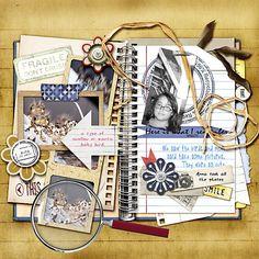 kit with notebook & journalling pieces { Illuminated Journal 3 :: Viva Artistry @ ScrapbookGraphics }