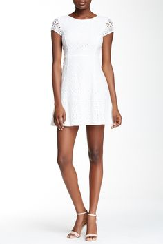 Lace Fit & Flare Dress (Petite) by Laundry on @nordstrom_rack