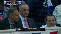 STL@CHC Gm4: Manfred in the stands at Wrigley... 10-13-15