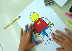 Create a lego figure out of yourself. Great idea! Especially for first day combined with the youtube movie lego school.