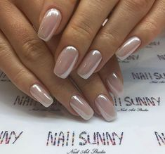 Try some of these designs and give your nails a quick makeover, gallery of unique nail art designs for any season. The best images and creative ideas for your nails. Metallic Nails, Nude Nails, White Nails, Pink Nails, My Nails, Acrylic Nails, Coffin Nails, Glitter Gel, Pink Chrome Nails