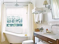 simple bath. love the tub and the rainfall shower head.