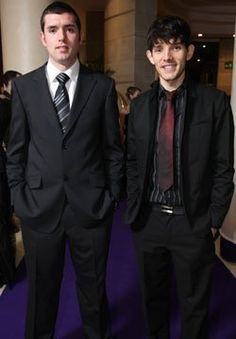 Colin Morgan and his brother :)