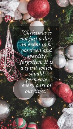 Simple Merry Christmas sayings for families and friends. Christmas is not just a day, an event to be observed and speedily forgotten. It is a spirit which should permeate every part of our lives. #merrychristmassayingssimple #merrychristmasmessagesfriends #christmassms