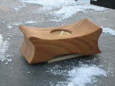 A Russian Olive Tea Light Holder.
