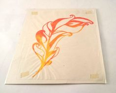 An screen printed Phoenix Feather on Japanese Gampi paper backed onto cream card to make those fiery colours pop! A completely unique print! Feather Pen Tattoo, Phoenix Feather Tattoos, Wrist Tattoo, Tattoo Ideas, Tattoo Designs, Wings Drawing, Future Tattoos, New Art, Screen Printing