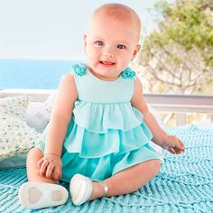Mayoral Kız Bebek Yazlık Fırfırlı Elbise Su Mavisi