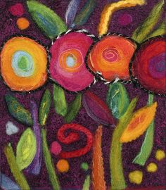 Felted Flowers | Flickr - Photo Sharing!