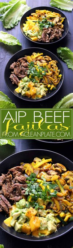 Autoimmune protocol-friendly Beef Fajitas recipe from acleanplate.com