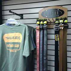 Cool Bison Designs' belts at Trailheads Outdoor Gear! Reversible belts, multi-use buckles on some of the belts!
