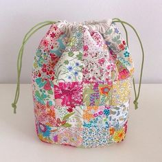 Patchwork drawstring bag pouch                                                                                                                                                                                 More