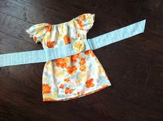Mollie Tunic Dress with removable flower belt by thetrendybaby, $40.00